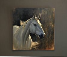 oil painting,horse art,white and grey,abstract,wildlife,abstract,horse painting