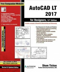 Autocad-Lt-2017-for-Designers-Digital-Download-by-Tickoo-Sham-Like-New-Use