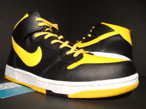 sale retailer 9a9b8 7143f Details about NIKE SB DUNK CMFT HIGH BE TRUE TO YOUR SCHOOL BTTYS WU TANG  YELLOW BLACK 10.5