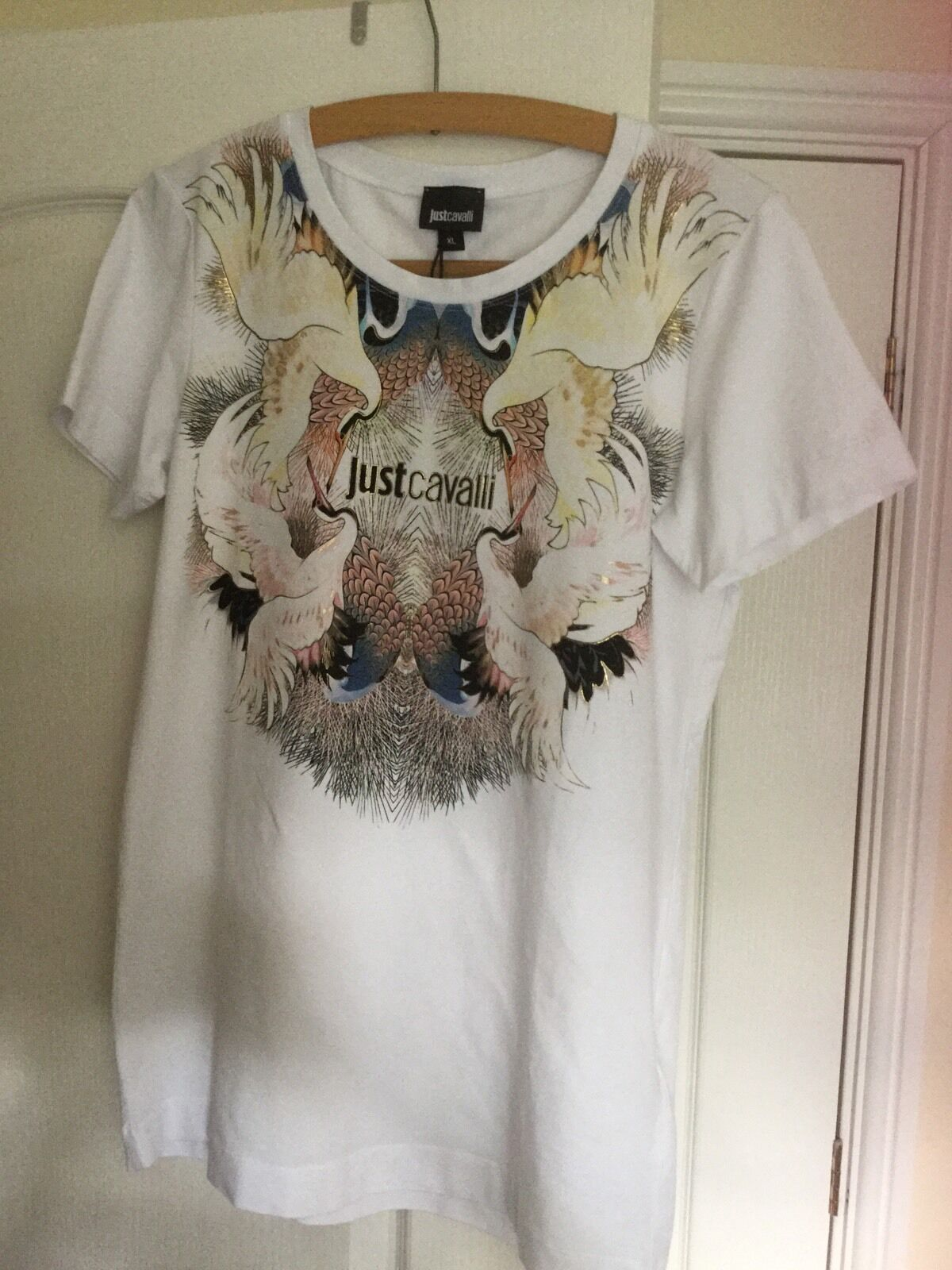 Roberto Cavalli Just Cavalli ladies top tshirt  BNWT authentic Größe XL