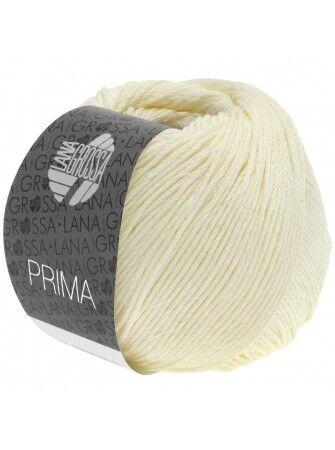 7,90€//100g  Lana Grossa Prima 50g  100/% Baumwolle Farbe 01 weiß