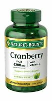 Nature's Bounty Cranberry With Vitamin C 4200 Mg 250 Softgels P... Free Shipping