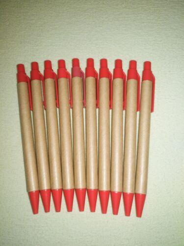 Öko Kuli Rot blaue Miene 40 Stck Kugelschreiber Körper aus Pappe