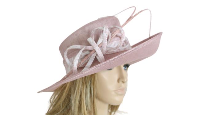 John Charles 26222 H40 BLUSH Mother of the Bride Bridal Style Wedding Formal Hat