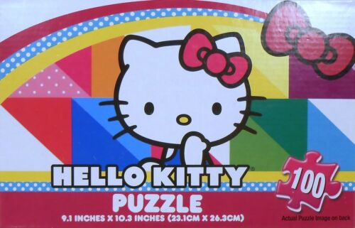 """Jigsaw Puzzle HELLO KITTY 100 Pieces 9/"""" x 10/"""" Bx"""