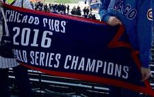 New Chicago Cubs 2016 World Series Champions 2x5 Blue Wrigley Flag Deluxe Banner