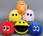 Pixels Movie Pac-man Pacman Red Blinky Pinky Blue Ghost Plush Toys Stuffed Doll