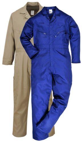 Portwest C812 Dubai Kaki o Blu Navy Cotone Tuta intera da Boilersuit Taglia Small-XXL