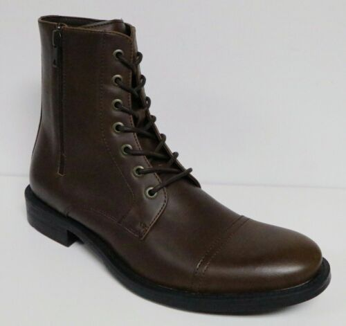 UNLISTED by KENNETH COLE BLIND TURN MEN/'S ANKLE BOOTS LACE UP /& SIDE ZIP NEW