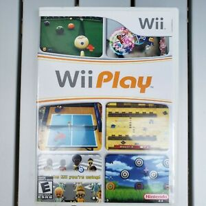 Wii-Play-Game-w-Case-and-Instructions-Nintendo-Wii-2007-Tested