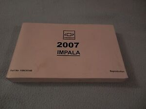 2007 chevrolet impala owners manual ebay rh ebay com 2007 chevy impala owners manual pdf 2007 chevrolet impala owners manual download