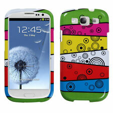 For Samsung Galaxy S III 3 HARD Protector Case Snap Phone Cover Rainbow Stripes