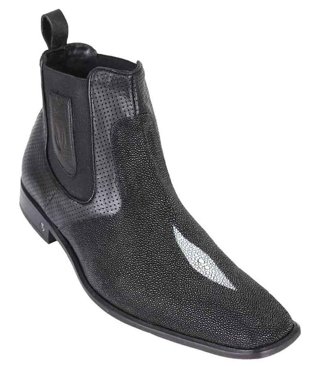 Men's Vestigium Genuine Single Stone Stingray Casual Ankle Boots Handmade