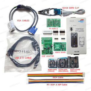 Details about RT809F Programmer 8 Adapters SOP8 IC Clip Motherboard LCD  Reader