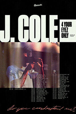 W046 Art Decor J Cole Poster 4 Your Eyez Only World Tour Rapper Hip Hop