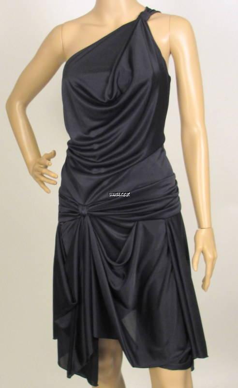 NWT MAX AZRIA BY BCBG ONE SHOULDER DRAPED DRESS S