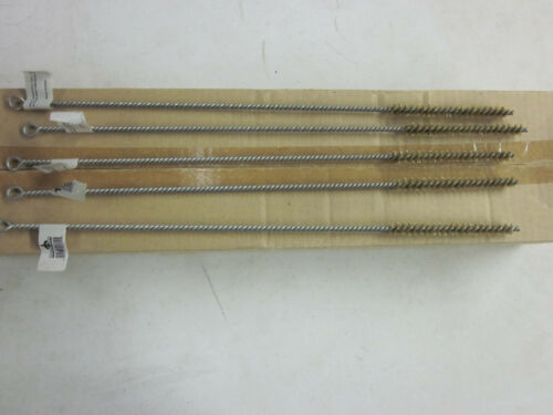 """24~ 16/"""" LONG BRASS WIRE ROUND TUBE CLEANING BRUSHES 3//8/"""" BRUSH 4 BOTTLE GUN PIPE"""