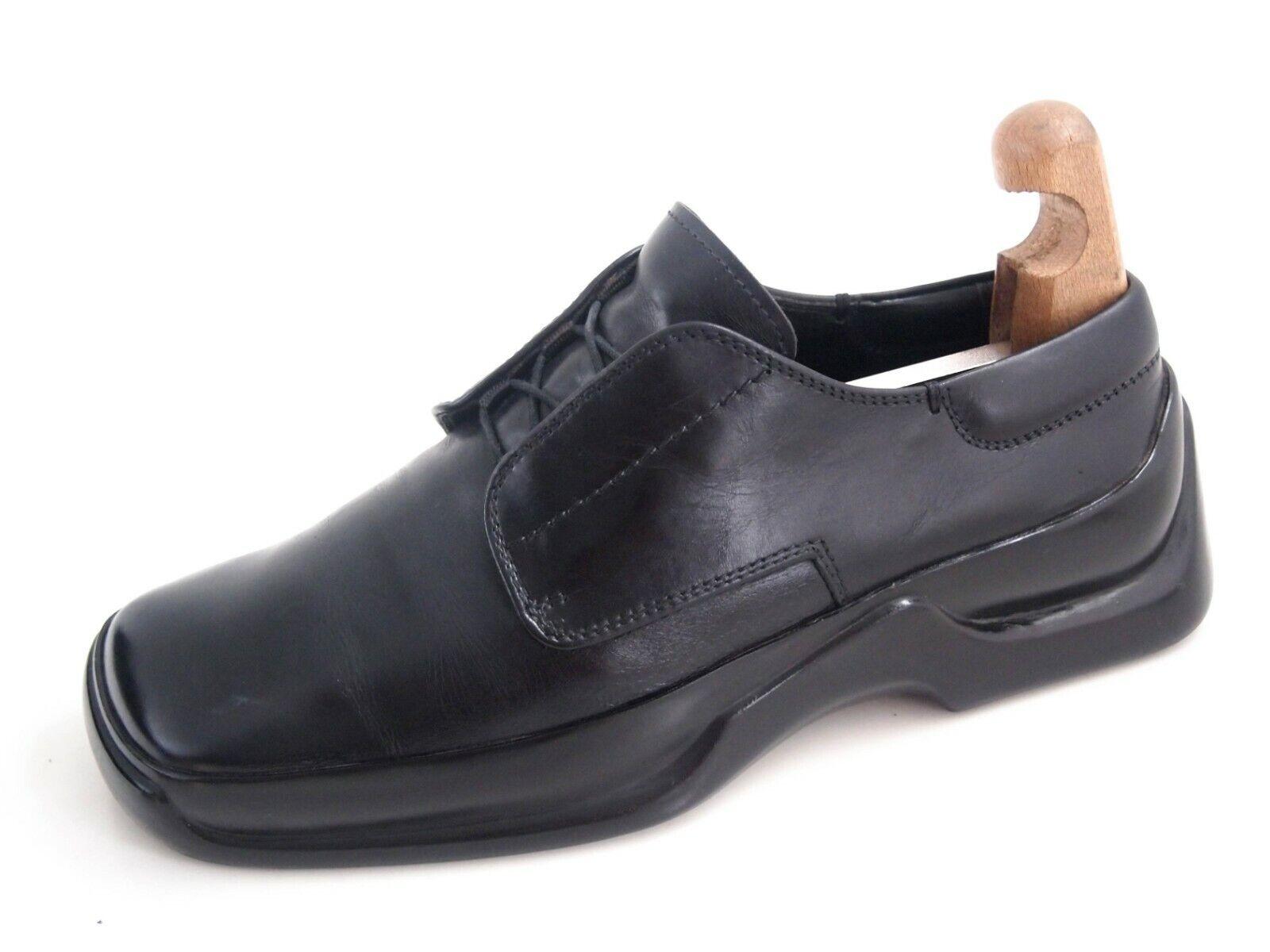 Prada Chunky Sole Derby Oxfords nero Leather Mens scarpe Dimensione US 8.5 EU 41.5  650