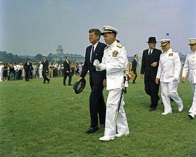 Kennedy arrives at Naval Academy Annapolis 1961 New 8x10 Photo President John F