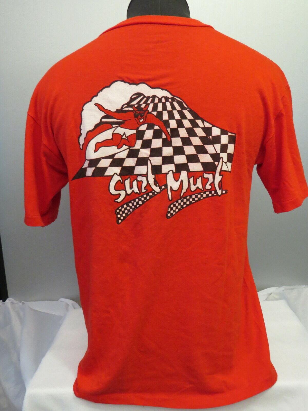 Camisa de surf Vintage-Murphy Surf muzt-Checkboard Diablo Gráfico-de hombre grandes