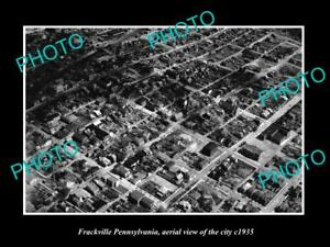 OLD-LARGE-HISTORIC-PHOTO-OF-FRACKVILLE-PENNSYLVANIA-AERIAL-VIEW-OF-CITY-c1935