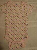 Gerber 12 Months Cotton Short Sleeve Flower Print Onesie Snap Crotch