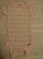 Gerber 12 Months Cotton Short Sleeve Flower Print Onesie Snap Crotch