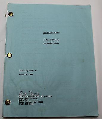 Albino Alligator * 1995 Original Movie Script Screenplay * Director Kevin Spacey