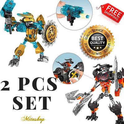 Bionicle Mask Maker vs.Skull Grinder Model Building Bricks Gift For Boys Kids