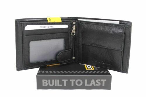 JCB BOXED GENUINE LEATHER WALLET NOTES COINS CREDIT CARDS BLACK UK SELLER