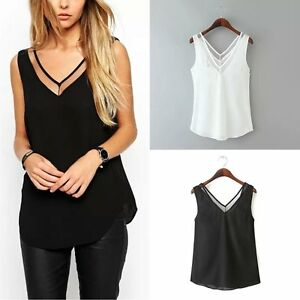 b1d841d4be86 Image is loading Fashion-Women-Summer-Vest-TopS-Sleeveless-Shirt-Blouse-