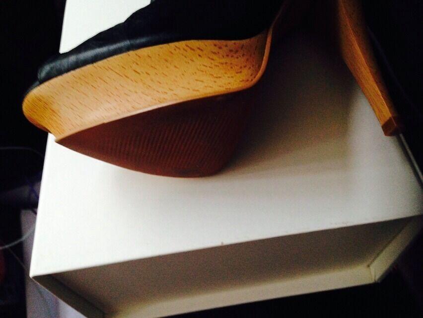 Kurt Kurt Kurt Geiger Damas Punta Abierta Negro botas Talla 40 34a537