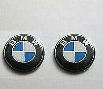 2X-Replacement-remote-Key-fob-Badge-3D-Emblem-Sticker-Decal-BMW-11mm
