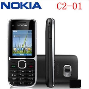 Original Nokia C Series C2-01 - Black &Gold (Unlocked) Cellular Phone Hebrew