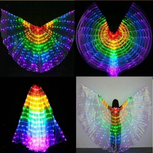 Kids LED Luminous Wings 360 Degree Belly Dance Light Up Show Dance Isis Wing