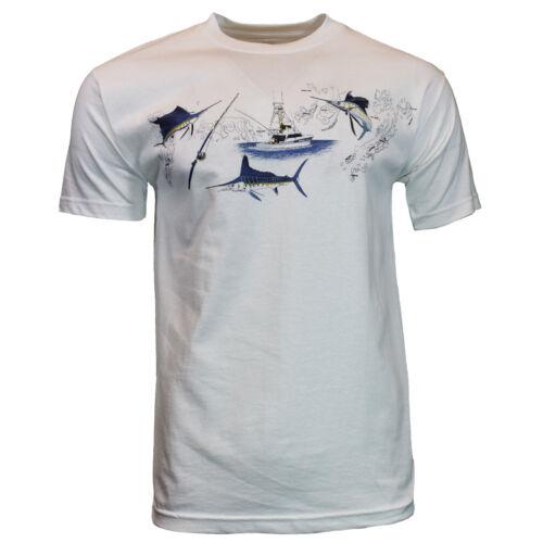 Mens T Shirt CLEARWATER  Sail Boat Fishing Marlin Bass Sailing Hunting Tee NEW