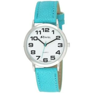 Ravel Mens Ladies Large Dial Clear White Face Watch
