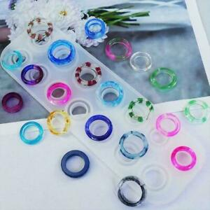 Ring Size Silicone Epoxy Mold Resin Jewelry Making Mould Craft NE W DIY B0S3