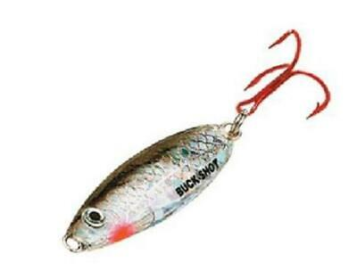 Northland Tackle BRGS2-11 Buck Shot Glider Rattle Spoon Silver Shiner 1//8 oz
