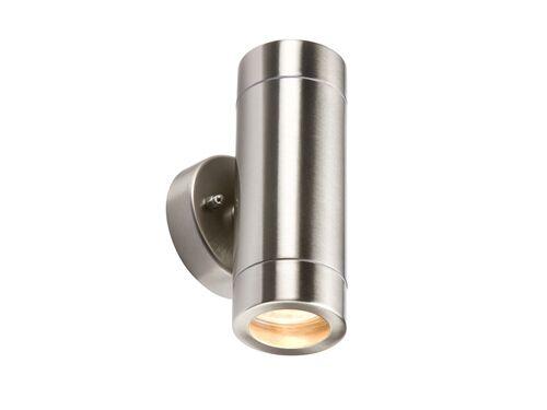 10 x twin twin twin Wall Light Acier Inoxydable IP65-Knightsbridge WALL2L x 10 | Les Produits De Base Sont  e9659c