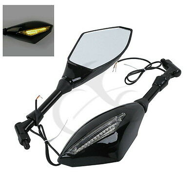 LED Turn Signals Integrated Mirrors For Honda HORNET900 CB900 CB919F SC48 02-07