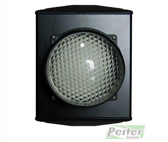 Una lente 24 Vdc semáforo con LEDs para gestionar dos Colors  Rojo Y verde