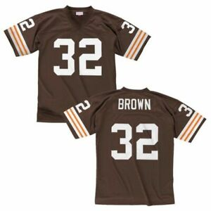 Details about Mitchell & Ness 1963 Jim Brown #32 NFL Cleveland Browns Replica Jersey
