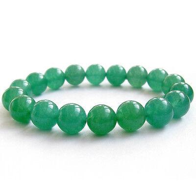 10mm Green Jade Gemstone Tibet Buddhist Prayer Beads Mala Bracelet