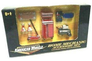 1/18 AMERICAN MUSCLE MECHANIC CAR GARAGE TOOLS AND ...