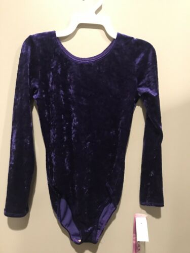 NEW WITH TAGS CHILDS 12-14 VELVET LONG SLEEVE LEOTARD BY GILDA MARX
