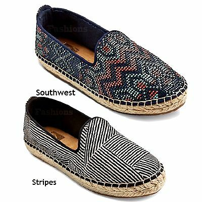 Choice Color Mad Love Lennie Perforated Espadrille Ballet Flats Shoes NWOB 13M1