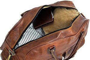 Bag-Leather-Duffle-Travel-Men-Luggage-Gym-Vintage-Genuine-Weekend-Overnight-New-034