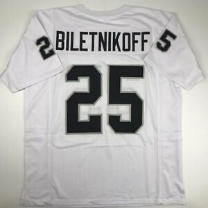 Details about New FRED BILETNIKOFF Oakland White Custom Stitched Football Jersey Size Mens XL