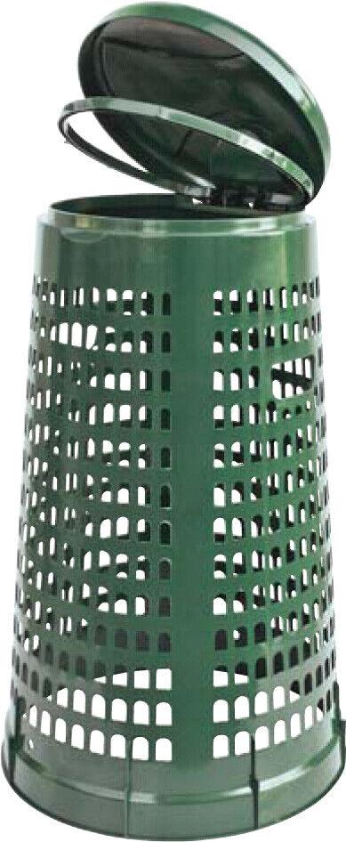 Poubelle pour Poubelle Réservoir Perchoir Porte-Sac Plastique Vert Antichoc